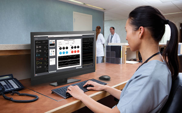Masimo - Desktop view of Trace in a hospital setting